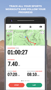 screenshot of Sports Tracker Running Cycling version Varies with device