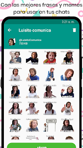screenshot of StickersTube - Stickers de Youtubers 📺 version 3.2