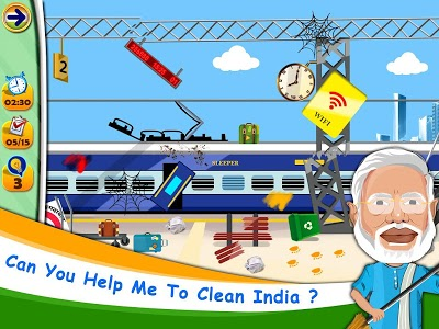 screenshot of Swachh Bharat mission, clean India game version 1.0