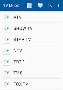 screenshot of TV Mobil version 1.2