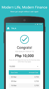 screenshot of Tala Philippines version 6.6.0