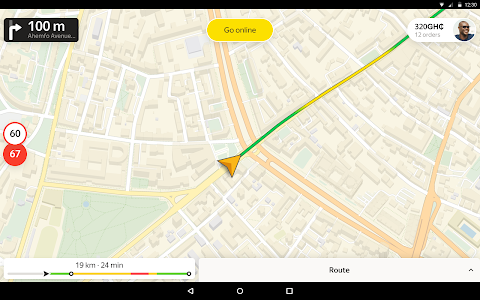 screenshot of Taximeter — find a driver job in taxi app for ride version 9.28