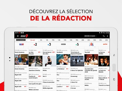 screenshot of Télé 7 – Programme TV & Replay version 5.5.8