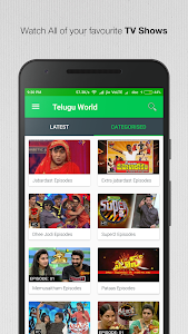 screenshot of Telugu Live TV,Shows & Movies version 1.1.0