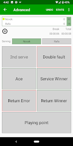 screenshot of Tennis Umpire App version 3.8.2