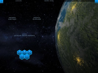 screenshot of TerraGenesis - Space Settlers version 5.1