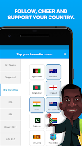 screenshot of ESPNCricinfo - Live Cricket Scores, News & Videos version 6.7.0