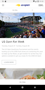 screenshot of US Open Tennis Championships 2018  version 7.8