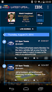 screenshot of US Open Tennis Championships version 3.20