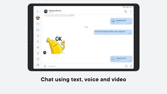 screenshot of VK — live chatting & free calls version Varies with device