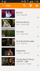 screenshot of VLC for Android beta version 0.9.10