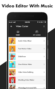 screenshot of Video Editor With Music version 1.1.5