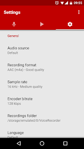 screenshot of Voice Recorder Pro version 2.99