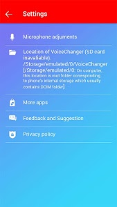 screenshot of Voice changer version 5.1.1