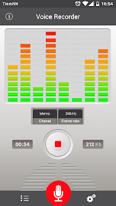 screenshot of Voice recorder version 1.11.3321.45