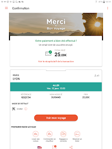 screenshot of OUI.sncf - Train travel version Varies with device