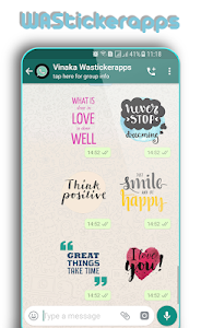 screenshot of WAStickerApps: Motivational Quotes Sticker version 1.0