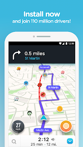 screenshot of Waze - GPS, Maps, Traffic Alerts & Live Navigation version 4.55.3.0