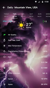 screenshot of Weather Forecast version 1.0.5.8