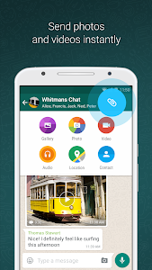 screenshot of WhatsApp Messenger version 2.19.188