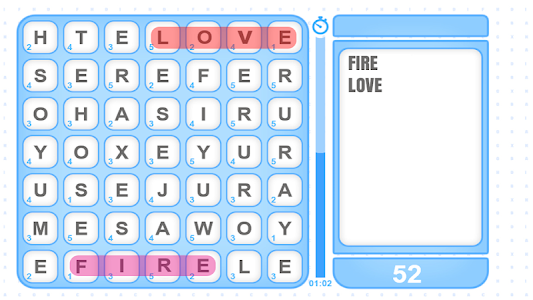 screenshot of Word Collect version 1.0