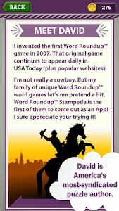 screenshot of Word Roundup Stampede - Search version 1.10