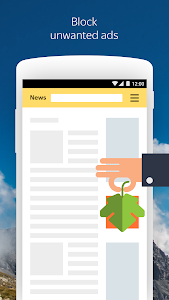 screenshot of Yandex Browser (beta) version Varies with device
