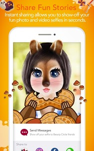 screenshot of YouCam Fun - Snap Live Selfie Filters & Share Pics version Varies with device