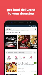 screenshot of Zomato - Restaurant Finder and Food Delivery App version 13.2.7
