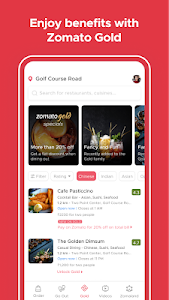 screenshot of Zomato - Restaurant Finder and Food Delivery App version 14.4.9