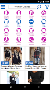 screenshot of clothes shopping online version 4.0