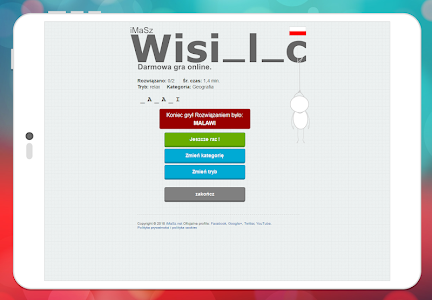 screenshot of iMaSz Wisielec PL version 1.13