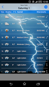 screenshot of the Weather version Varies with device