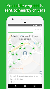 screenshot of inDriver — ride app where you offer your fare version 3.18.10