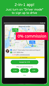screenshot of inDriver — ride app where you offer your fare version 3.18.15