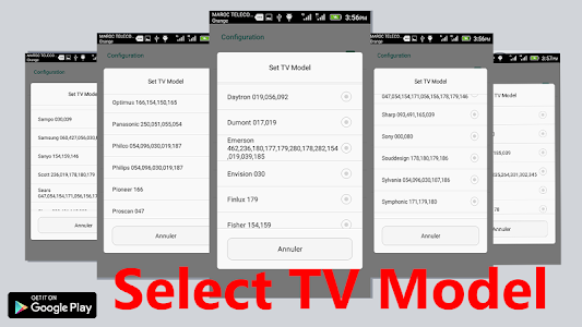 screenshot of remote 2018 control for tv - all tv version 19.16